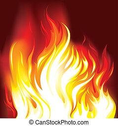 fuoco, fiamme, fondo