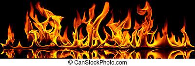 fuoco, flames.