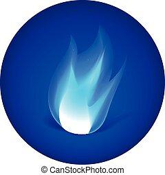 fuoco, icona