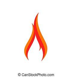 fuoco, logotipo, segno, icona