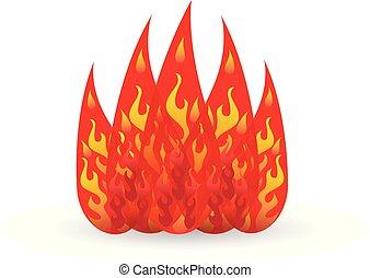 fuoco, logotipo, vettore