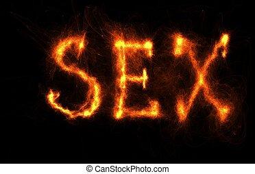fuoco, nero, sesso