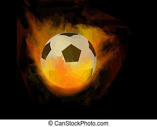 fuoco, palla calcio