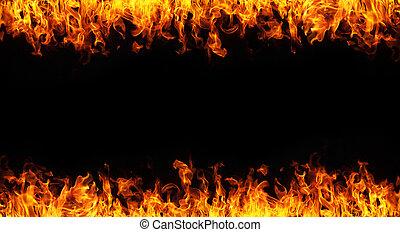 fuoco, sfondo bianco