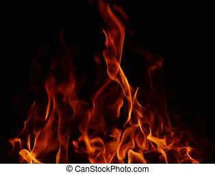 fuoco, sfondo nero