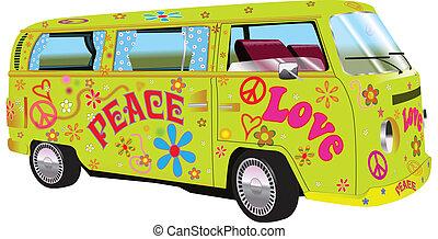 furgone, hippy