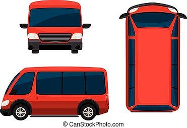 furgone, rosso