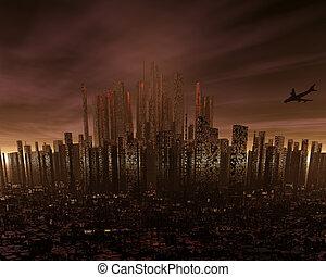 futuristico, cityscape