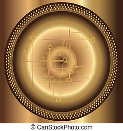 futuristico, fractal, astratto