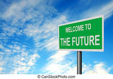 futuro, segno benvenuto