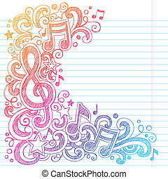 g, note, sketchy, musica, doodles, chiave