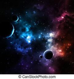 galassia, fondo