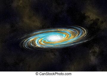 galassia, multicolor, cosmo, spirale, profondo