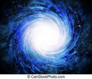 galassia spirale, spazio