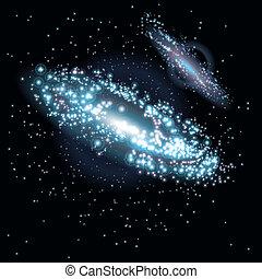 galassie, due