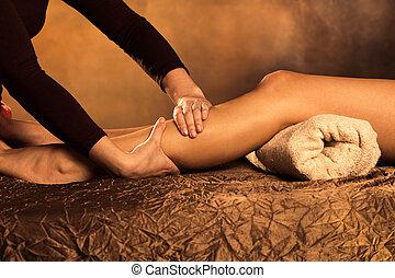 gambe, massaggio