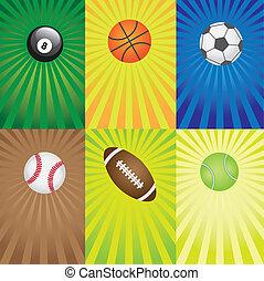 games., set, sport, palle