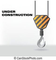 gancio, costruzione, sotto