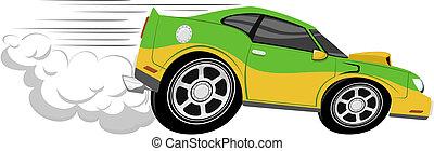 gara di motocross, cartone animato