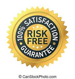 garanzia, risk-free, etichetta