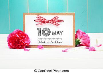 garofani rosa, madri, maggio, 10, giorno, scheda