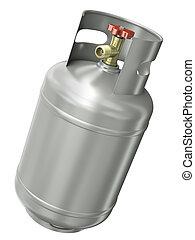gas, contenitore