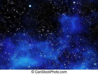 gas, nebulosa, esterno, nuvola, spazio