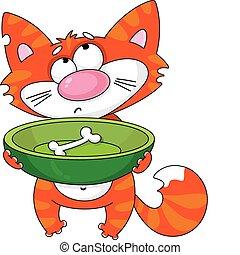 gatto affamato