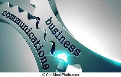 gears., comunicazioni, metallo, affari