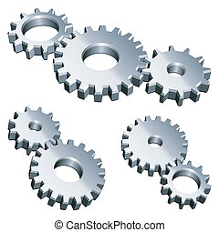 gears., metallo