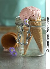 gelato, fragola
