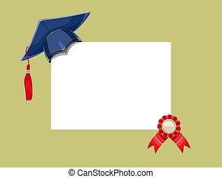 gemma blu, diploma, graduazione, academicic, medaglia