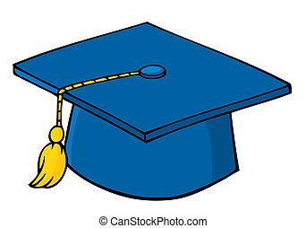 gemma blu, graduazione