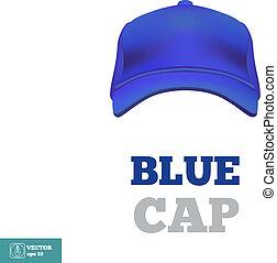 gemma blu, vettore, baseball, fronte, vista., template.