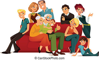 generazione, multi, famiglia
