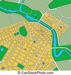 generico, mappa, urbano, città