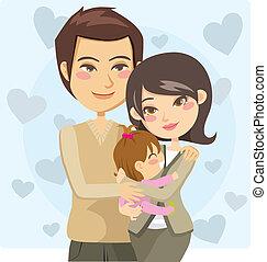 genitori, felice
