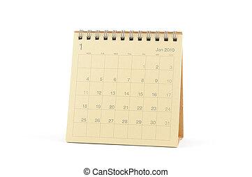 gennaio, calendario, -, 2010