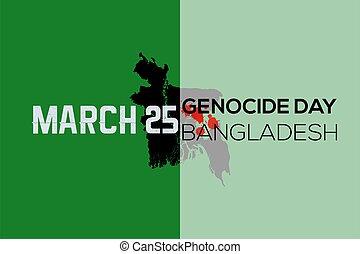 genocide, movimento, bangladesh., giorno indipendenza