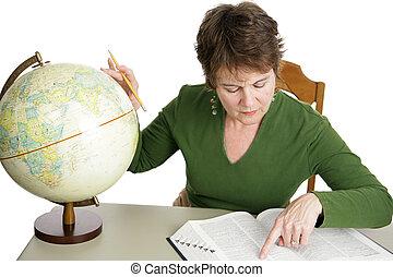 geografia, ricerca