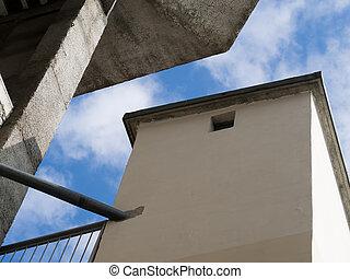 geometria, brutto, architettura moderna