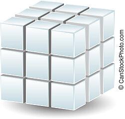geometrico, cubo