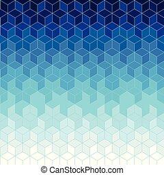 geometrico, fondo, blu, astratto