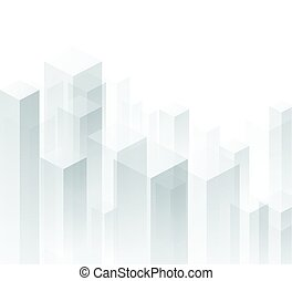 geometrico, fondo., prospettiva, bianco, 3d