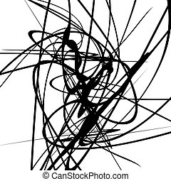 geometrico, lines., monocromatico, dinamico, curvy, linee, illustrazione, squiggle, arte