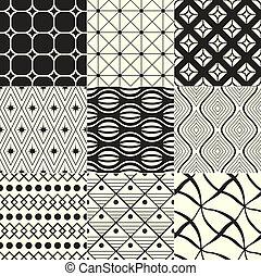 geometrico, nero, /, fondo, bianco