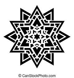 geometrico, ornamento, rotondo