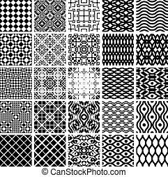geometrico, set, patterns., seamles