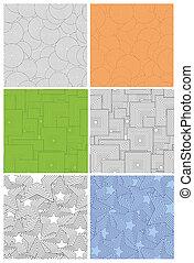 geometrico, set, retro, fondo, seamless