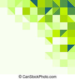 geometrico, sfondo verde